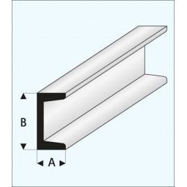 PROFILATO PLASTICA C 3x6x1000mm