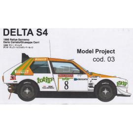 LANCIA DELTA S4 1986 RALLY SANREMO