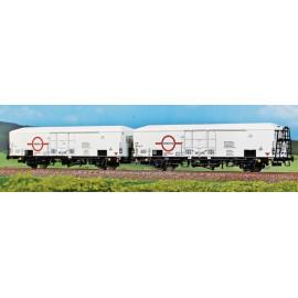Set di due carri refrigeranti TRANSFESA