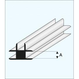 CONNETTORE A T PLASTICA 1x1000mm