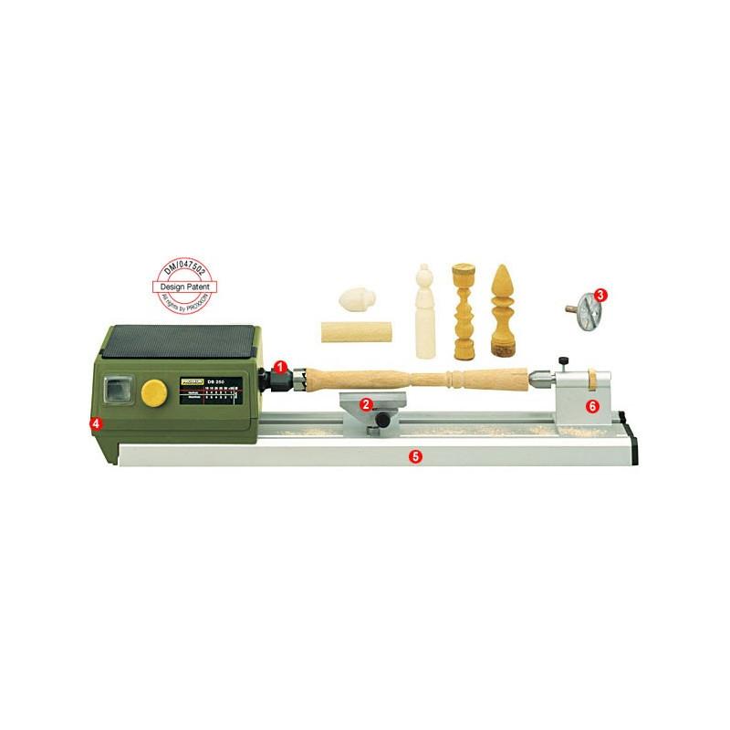 Micro tornio per legno d250 proxxon for Tornio modellismo