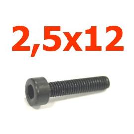 Viti cilindriche esagonali  2,5x10