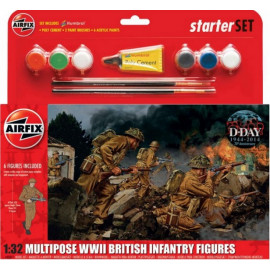 WWII British Infantry Multipose Gift Set 1/32 AIRFIX