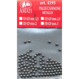 PALLE PER CANNONI 1,5mm