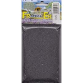 Polvere grigio scuro fine