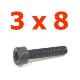 Viti cilindriche esagonali  3x8