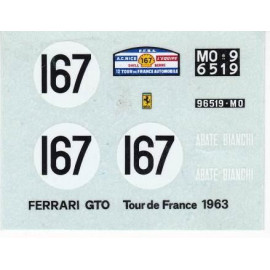 DECAL FERRARI GTO TOUR DE FRANCE 63  1/43