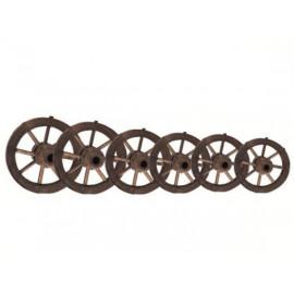 Coppia di alari in metallo