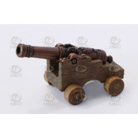 CANNONE DECORATO CON AFFUSTO 30mm