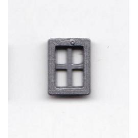 FINESTRA IN METALLO 4 fori 6,5X8,8mm