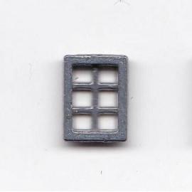 FINESTRA IN METALLO 6 fori 6,5X8,8mm