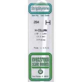 PROFILATO A H POLISTIRENE 3,2mm
