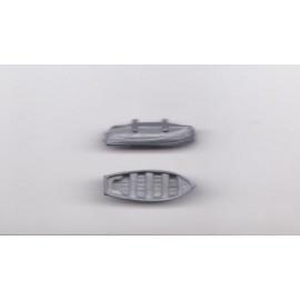 scialuppa in metallo 30x16mm