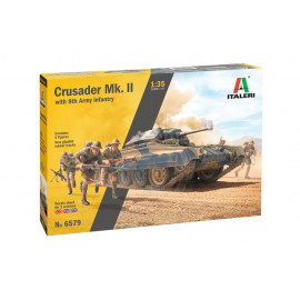 Crusader Mk. II with 8th Army Infantry