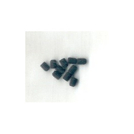 Grani acciaio punta piana M3x3