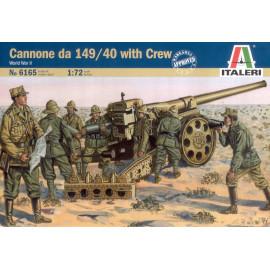 WWII: Italian Cannone da 149/40 w/crew
