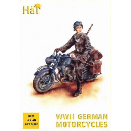 WWII German Motorcycle with sidecar - HAT8126