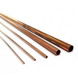 TUBO RAME CRUDO 3x2,2x500mm